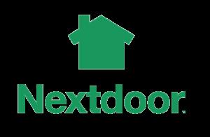 nextdoor logo with text